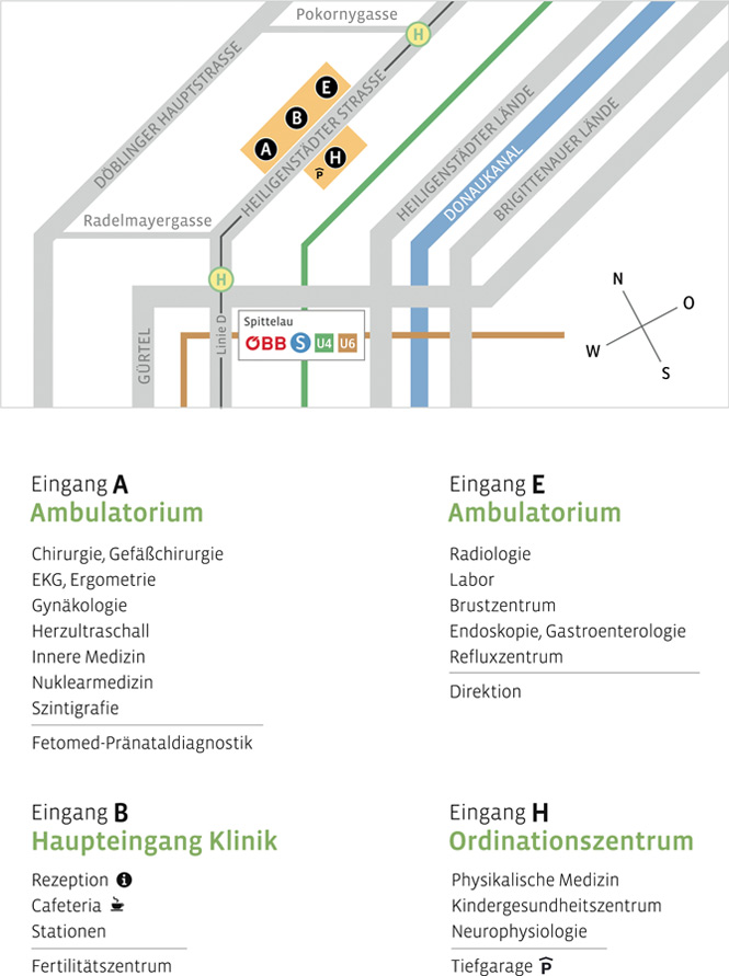 Lageplan Ambulatorium Döbling